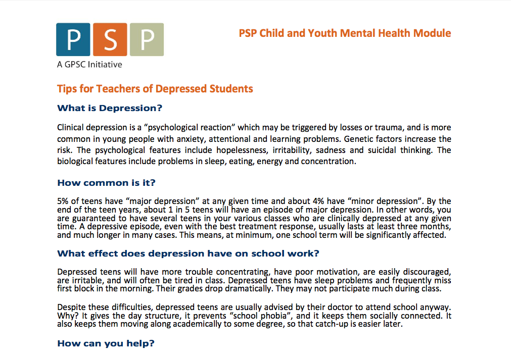 Open Mind BC - Mental Health Tools & Resources for teachers